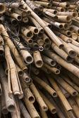 Bambus chiński budowy witryny — Zdjęcie stockowe