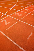 Ace track lanes curve detail for background sports concepts — Stock Photo