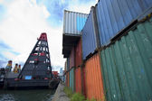 Commercial container port — Stock Photo