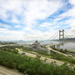 Tsing ma bridge in Hong Kong — Stock Photo