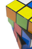 Rubik's cube over white background — Stock Photo