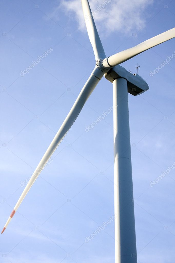 Wind turbine generating electricity on blue sky  — ストック写真 #3599640