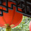 Royalty-Free Stock Photo: Line chinese red lantern in the temple
