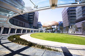 Modern office building at day in hong kong — Stock Photo