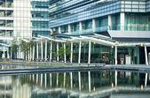 Escritório moderno edifício no dia em hong kong atirar fora — Foto Stock