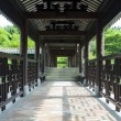 Traditional Chinese architecture, long corridor in outdoor park — Stock Photo