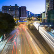 Traffic in city at night — Stock Photo