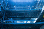 Industry building with blue toned — Stock Photo