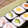 Japanese sushi on a plate — Stock Photo
