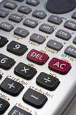 Calculater close up on the function botton — Stock Photo