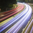 Modern Urban City with Freeway Traffic at Night — Stock Photo #3765378