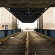 Стоковое фото: Old desert car ferry dock