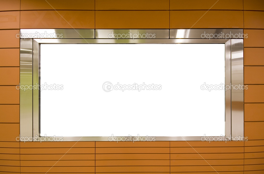 Large Billboard for advertisement use and brown background — Stock Photo #3855075