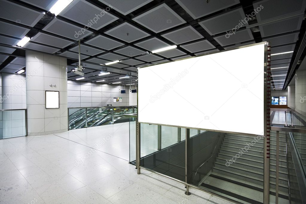 Large Billboard for advertisement use in a modern building — Stock Photo #3863558
