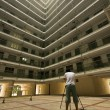 Hong Kong public housing apartment block — Stock Photo