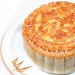 Moon cakes on dish - Stock Photo