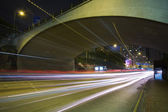 Traffic on the move at night — Stock Photo