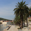 Promenade at Historic City in Croatia — Stock Photo