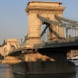 Chain bridge at daylight - Stock Photo