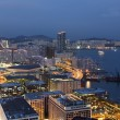 Hong Kong harbor at night — Stock Photo #2936030
