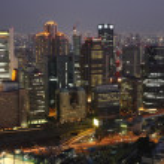 Osaka City in Japan at night — Stock Photo #2936111