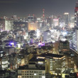 Tokio-Stadt in Japan in der Nacht — Stockfoto