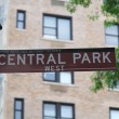 Central Park Sign - Stock Photo