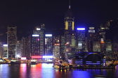 Hong Kong Island skyline at night — Stock Photo