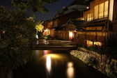 Kyoto City historic district at night — Stock Photo