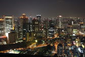 Osaka City in Japan at night — Stock Photo
