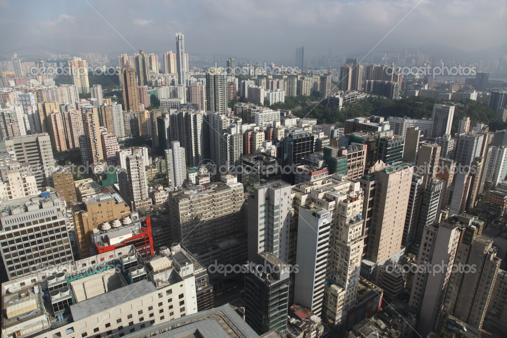 Hong Kong skyline from high above — Stock Photo #2935646