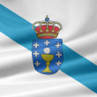 Flag of Galicia - Spain — Stock Photo