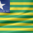 Flag of Piaui - Brazil — Stock Photo