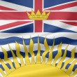 Flag of British Columbia - Canada — Stock Photo
