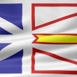 Stock Photo: Flag of New Foundland and Labrador - Canada