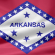 Stock Photo: Flag of Arkansas - USA