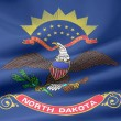 north dakota - usa flagga — Stockfoto