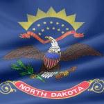 北达科他州-美国的旗子 — 图库照片