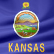 Flag of Kansas - USA — Stock Photo