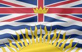 Flag of British Columbia - Canada — Stock Photo