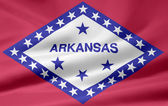Flag of Arkansas - USA — Stock Photo