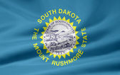 Flag of South Dakota - USA — Stock Photo
