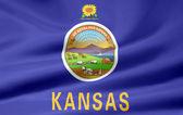 Flag of Kansas - USA — Stock Photo