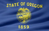 Flag of Oregon - USA — Стоковое фото
