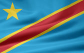 Flag of the Democratic Republic of Congo — Stock Photo