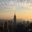 Manhattan at dawn - Stock Photo