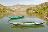 Two boats on River Douro — Stock Photo