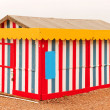 Multi colored bech hut — Stock Photo