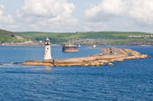 Plymouth Harbour entrance — Stock Photo