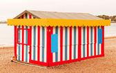 Multi colored bech hut — Stock Photo